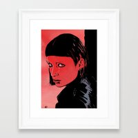 Lisbeth Salander Mara Rooney Framed Art Print