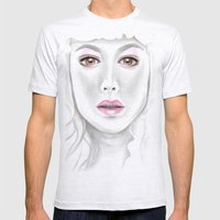 Porcelain Beauty Mens Fitted Tee Ash Grey SMALL