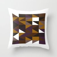 #508 Aztec revival – Geometry Daily Throw Pillow