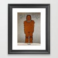 Bad Hair Day No:4 / Bigf… Framed Art Print
