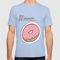 Mmmm... Donut Mens Fitted Tee Tri-Blue SMALL
