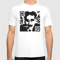 QR- Groucho Mens Fitted Tee White SMALL