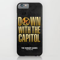 iPhone & iPod Case featuring Hunger Games - Down With the Capitol by Cloz000