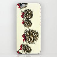 Holiday Art: Deck The Ha… iPhone & iPod Skin
