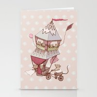 Mice Caravan Stationery Cards
