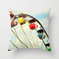 Round And Round We Go Throw Pillow