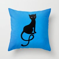 Blue Gracious Evil Black… Throw Pillow