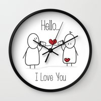 Hello I Love You Wall Clock