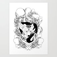 Glam-Bear Art Print