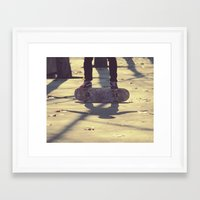 El equilibrio es imposible Framed Art Print
