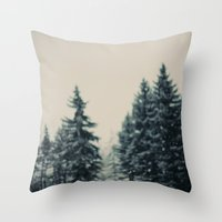 Winter Fancy Throw Pillow