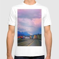 Beach Houses Mens Fitted Tee White SMALL