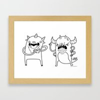 Monster Dialogues Framed Art Print