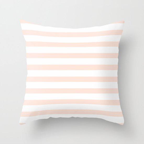 PEACH STRIPES Throw Pillow