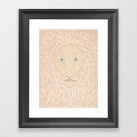 White Lion Framed Art Print