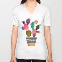 Happy Cactus Unisex V-Neck