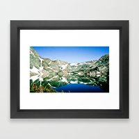 Glacier Lake Framed Art Print