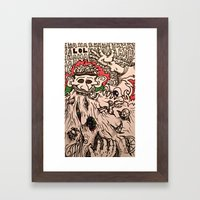 He who consumes Framed Art Print