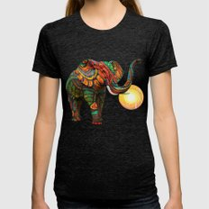 Elephant's Dream Womens Fitted Tee Tri-Black SMALL