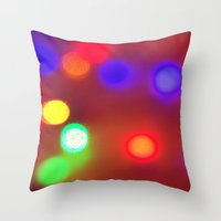 Colourful Lights Throw Pillow