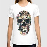 skull T-shirts featuring Vintage Skull by Ali GULEC
