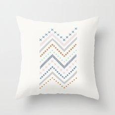 Mixed Zig Zag - in Cobalt Throw Pillow