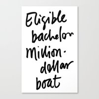 Eligible Bachelor (inver… Canvas Print