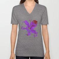 night lilies Unisex V-Neck