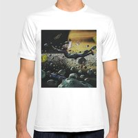 Astro Boy | Collage Mens Fitted Tee White SMALL