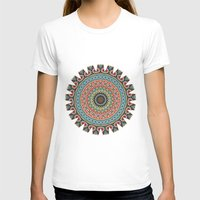 Boho Patchwork-Vintage C… Womens Fitted Tee White SMALL