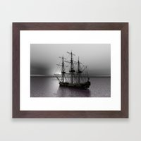 Sailing Along The Cold S… Framed Art Print