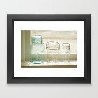 Jars Of The Past Framed Art Print