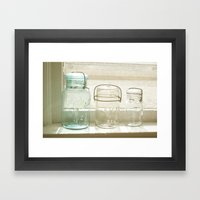 Jars Of The Past Framed Art Print