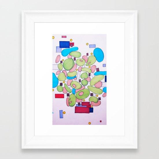 City Golf Framed Art Print