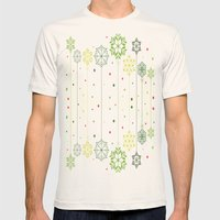 Holidays Deco Mens Fitted Tee Natural SMALL