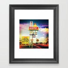 Cowboy Motel Framed Art Print