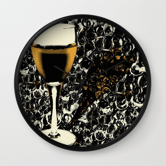 Black And White Wine Wall Decor : White wine wall clock by loro art pictures society