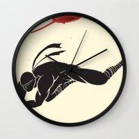 Ninja! Heads will roll! Wall Clock