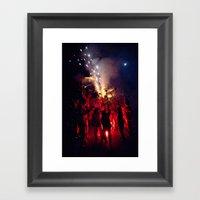Red Sound Framed Art Print