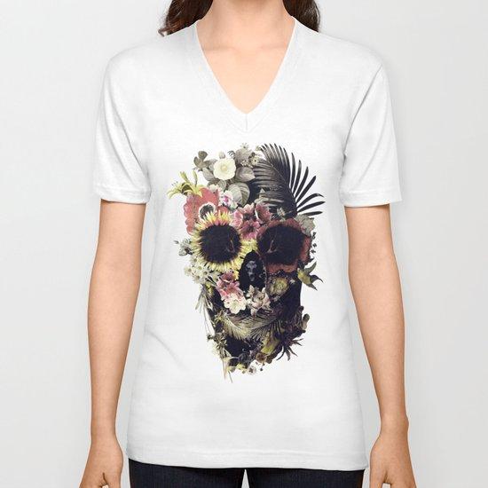 Garden Skull V-neck T-shirt