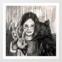 my wolf and me Art Print