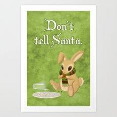 Bunny Santa Card Art Print