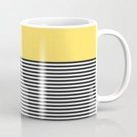 STRIPE COLORBLOCK {LEMON} Mug