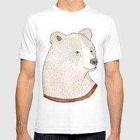Señor Oso Mens Fitted Tee White SMALL