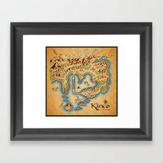 Kanto Map Framed Art Print