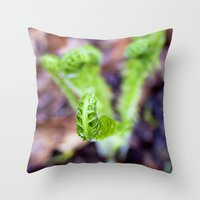 Fiddlehead II Throw Pillow