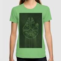 Millennium Falcon Womens Fitted Tee Grass SMALL