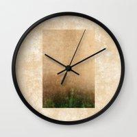 Rising Green Wall Clock