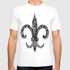 Fleur Di Lis  Mens Fitted Tee SMALL White