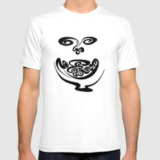 Smiley Face SMALL White Mens Fitted Tee